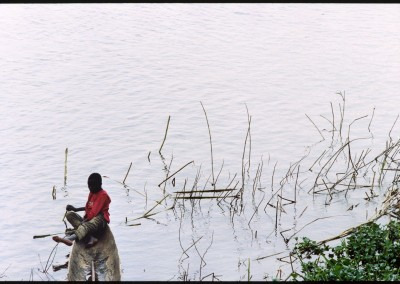 Piroghe nell'Obangui
